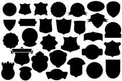 Μαύρες ασπίδες καθορισμένες, σχέδιο ασπίδων ελεύθερη απεικόνιση δικαιώματος