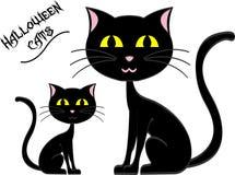 Μαύρες γάτες αποκριών Στοκ Εικόνες