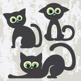μαύρες γάτες κινούμενων σ& Απεικόνιση αποθεμάτων
