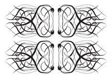 Μαύρες γραμμές δαντελλών σε ένα μπλε υπόβαθρο Στοκ Φωτογραφίες