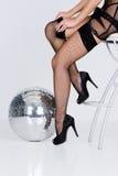 μαύρες γυναικείες κάλτ&sigma Στοκ φωτογραφία με δικαίωμα ελεύθερης χρήσης