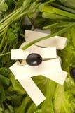 μαύρες ελιές φέτας τυριών Στοκ φωτογραφίες με δικαίωμα ελεύθερης χρήσης