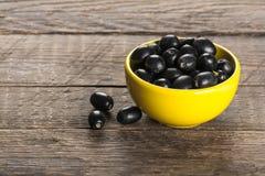 μαύρες ελιές Στοκ Εικόνες