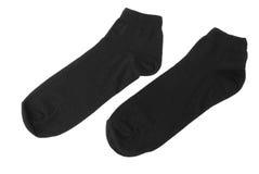 Μαύρες κάλτσες βαμβακιού Στοκ φωτογραφία με δικαίωμα ελεύθερης χρήσης