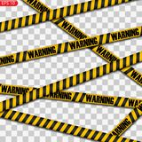 Μαύρες και κίτρινες γραμμές προσοχής που απομονώνονται ελεύθερη απεικόνιση δικαιώματος