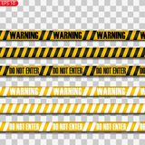 Μαύρες και κίτρινες γραμμές προσοχής ελεύθερη απεικόνιση δικαιώματος