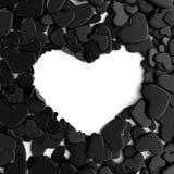 Μαύρες καρδιές ομάδας στο άσπρο υπόβαθρο Στοκ φωτογραφίες με δικαίωμα ελεύθερης χρήσης
