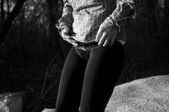 Μαύρες κιλότες και περικνημίδες Στοκ Εικόνα