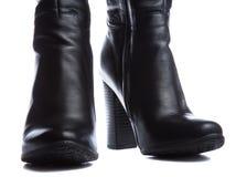 Μαύρες μπότες δέρματος Στοκ εικόνα με δικαίωμα ελεύθερης χρήσης