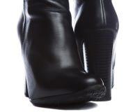 Μαύρες μπότες δέρματος Στοκ Εικόνες