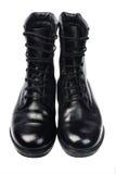 Μαύρες μπότες δέρματος Στοκ φωτογραφία με δικαίωμα ελεύθερης χρήσης