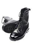 Μαύρες μπότες δέρματος Στοκ Φωτογραφία