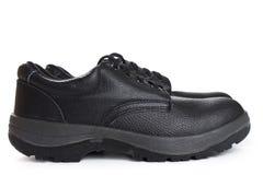 Μαύρες μπότες εργασίας στο άσπρο υπόβαθρο Στοκ εικόνες με δικαίωμα ελεύθερης χρήσης