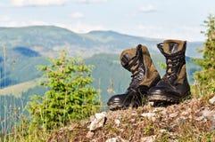 Μαύρες μπότες ζουγκλών Στοκ Φωτογραφίες