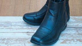 Μαύρες μπότες, παπούτσια Στοκ φωτογραφίες με δικαίωμα ελεύθερης χρήσης