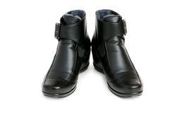 Μαύρες μπότες που απομονώνονται στο λευκό Στοκ φωτογραφίες με δικαίωμα ελεύθερης χρήσης