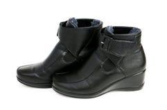 Μαύρες μπότες που απομονώνονται στο λευκό Στοκ εικόνες με δικαίωμα ελεύθερης χρήσης