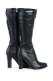 Μαύρες μπότες που απομονώνονται στο λευκό Στοκ Εικόνα
