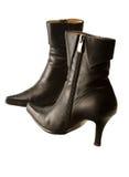 μαύρες μπότες που βάζοντα&i Στοκ φωτογραφία με δικαίωμα ελεύθερης χρήσης
