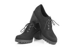 Μαύρες μπότες στο υψηλό τακούνι Στοκ εικόνα με δικαίωμα ελεύθερης χρήσης