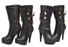 μαύρες μπότες υψηλές στοκ φωτογραφία με δικαίωμα ελεύθερης χρήσης
