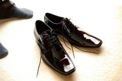 μαύρες μπότες στοκ φωτογραφίες