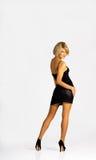 μαύρες νεολαίες γυναικών φορεμάτων Στοκ Φωτογραφίες