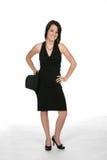 μαύρες νεολαίες γυναικών φορεμάτων sassy Στοκ Φωτογραφία
