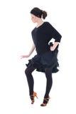 μαύρες νεολαίες γυναικών χορευτών θέτοντας στοκ εικόνες