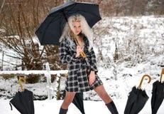 μαύρες πέντε ομπρέλες κορ& Στοκ φωτογραφία με δικαίωμα ελεύθερης χρήσης
