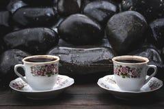 μαύρες πέτρες Στοκ Εικόνες