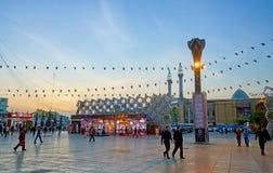 Μαύρες σημαίες στην πλατεία Hossein ιμαμών στην Τεχεράνη Στοκ Φωτογραφία