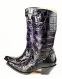 Μαύρες δυτικές μπότες Στοκ Εικόνα