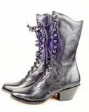 Μαύρες δυτικές μπότες Στοκ εικόνες με δικαίωμα ελεύθερης χρήσης