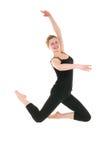 μαύρες χαμογελώντας νεολαίες leotard χορευτών θηλυκές Στοκ φωτογραφίες με δικαίωμα ελεύθερης χρήσης