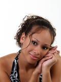 μαύρες χεριών νεολαίες εφήβων πορτρέτου όμορφες Στοκ εικόνα με δικαίωμα ελεύθερης χρήσης