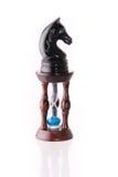 μαύρη άμμος αλόγων ρολογιών σκακιού Στοκ Εικόνες
