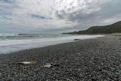 Μαύρη άμμος χαλικιών, Wainuiomata, NZ Στοκ φωτογραφία με δικαίωμα ελεύθερης χρήσης