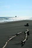 Μαύρη άμμος Στοκ Φωτογραφίες