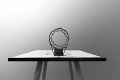 Μαύρη/άσπρη έννοια στεφανών καλαθοσφαίρισης Στοκ Φωτογραφία