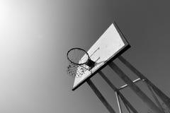 Μαύρη/άσπρη έννοια στεφανών καλαθοσφαίρισης Στοκ φωτογραφία με δικαίωμα ελεύθερης χρήσης