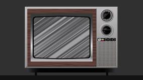 Μαύρη άσπρη διαστρέβλωση παρέμβασης στην παλαιά TV διανυσματική απεικόνιση