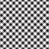 Μαύρη άσπρη checkerboard σύσταση υφάσματος ελέγχου διαγώνια άνευ ραφής Στοκ Εικόνα
