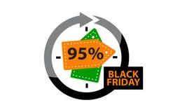 Μαύρη έκπτωση 95% Παρασκευής Στοκ εικόνα με δικαίωμα ελεύθερης χρήσης