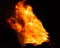 Μαύρη έρημος βράχου, ΗΠΑ - 2$ος του Σεπτεμβρίου του 2016: Καίγοντας άτομο Στοκ εικόνα με δικαίωμα ελεύθερης χρήσης