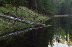 Μαύρη λίμνη Στοκ εικόνα με δικαίωμα ελεύθερης χρήσης