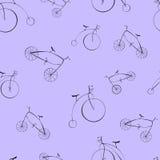Μαύρη αναδρομική διανυσματική απεικόνιση ποδηλάτων Στοκ Φωτογραφίες
