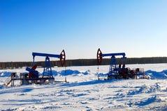 μαύρη αντλία πετρελαίου Στοκ Φωτογραφίες