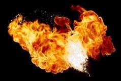 μαύρη απεικόνιση πυρκαγιάς σχεδίου σφαιρών ανασκόπησης Στοκ Εικόνες