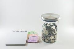 μαύρη αποταμίευση χρημάτων έννοιας υπολογιστών τραπεζογραμματίων Στοκ Εικόνες